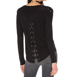 Generation Love Pauline Lace Up Top- Small